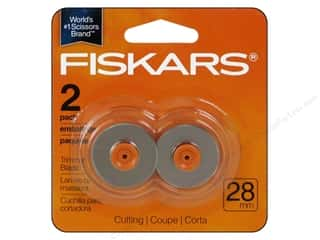 Paper Trimmers / Paper Cutters: Fiskars Rotary Trimmer Blades 28mm Style F Cutting 2pc