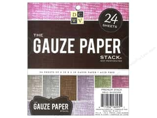 Cardstock  6x6: Die Cuts With A View 6 x 6 in. Paper Stack Gauze
