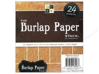 Cardstock  6x6: Die Cuts With A View 6 x 6 in. Paper Stack Burlap