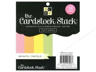 Cardstock  6x6: Die Cuts 6 x 6 in. Cardstock Mat Stack Textured Brights
