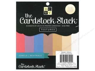Cardstock  6x6: Die Cuts 6 x 6 in. Cardstock Mat Stack Textured Jewel