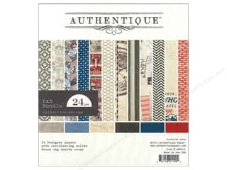 Authentique 6 x 6 in. Paper Bundle Aboard 24 pc.