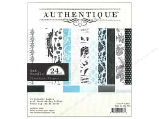 Authentique 6 x 6 in. Paper Bundle Classique Elegant 24 pc.