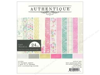 Spring Printed Cardstock: Authentique 6 x 6 in. Paper Bundle Flourish 24 pc.