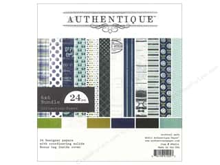 Father's Day Kid Crafts: Authentique 6 x 6 in. Paper Bundle Suave Collection 24 pc.