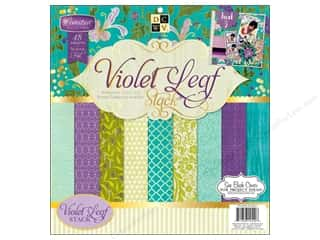 DieCuts with a View: Die Cuts With A View 12 x 12 in. Cardstock Mat Stack Violet Leaf