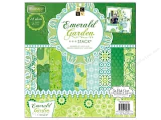 DieCuts with a View: Die Cuts With A View 12 x 12 in. Cardstock Mat Stack Emerald Garden