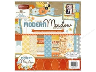 Die Cuts With A View 12 x 12 in. Cardstock Mat Stack Modern Meadow