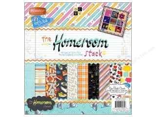 2013 Crafties - Best Scrapbooking Supply DieCuts Paper Stacks: Die Cuts 12 x 12 in. Cardstock Mat Stack Homeroom
