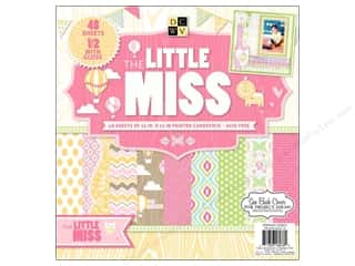 DieCuts with a View Baby: Die Cuts With A View 12 x 12 in. Cardstock Mat Stack Little Miss