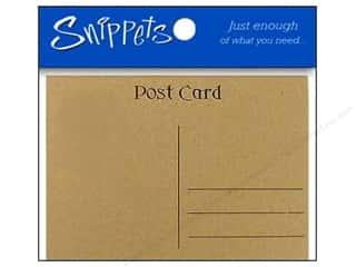 Post Cards by Paper Accents 4 1/4 x 5 1/2 in. Brown Bag 5 pc. (3 pieces)