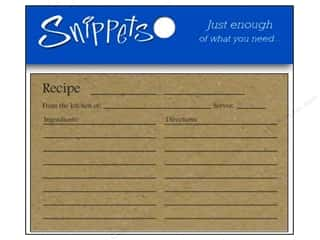 Paper Accents Recipe Card 4 x 6 in. Brown Bag 5 pc. (3 pieces)