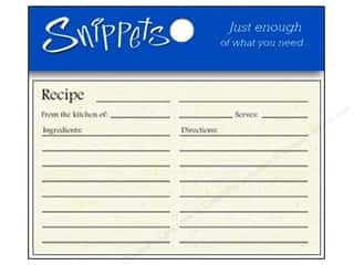 New: Paper Accents Recipe Card Snippets 4x6 Birch 5pc (3 pieces)
