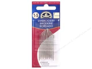 DMC inches: DMC Embroidery Needles Size 1/5 (3 packages)