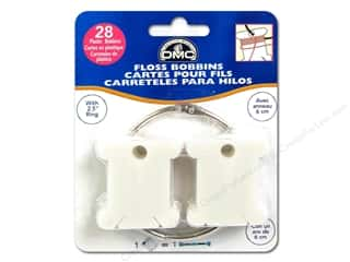 DMC inches: DMC Floss Bobbins 28 pc. Plastic with Metal Ring