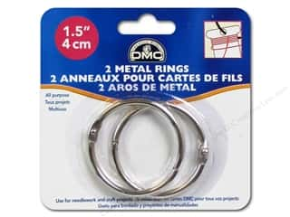 DMC inches: DMC Metal Craft Rings 1 1/2 in. 2 pc.