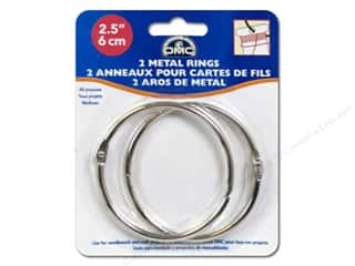 DMC inches: DMC Metal Craft Rings 2 1/2 in. 2 pc.