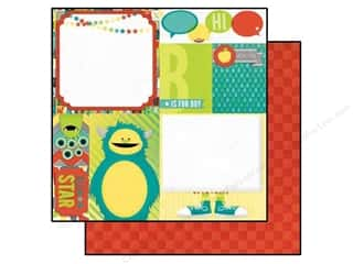 Brothers Size: Bo Bunny 12 x 12 in. Paper Our Lil' Monster Collection Mischief (25 pieces)