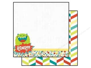 Bo Bunny 12 x 12 in. Paper Our Lil' Monster Rawr (25 piece)