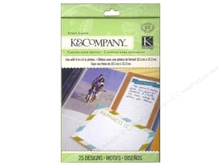 K & Company Designer Papers & Cardstock: K&Company Cards Tim Coffey Travel Story