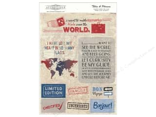 Tim Holtz Paper Die Cuts / Paper Shapes: Authentique Die Cuts Abroad Titles & Phrases