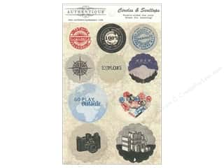 Authentique Die Cuts Abroad Circles & Scallops (12 set)