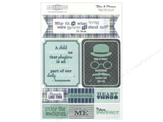 Father's Day Authentique Die Cuts: Authentique Die Cuts Suave Titles & Phrases