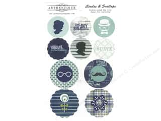 Father's Day Authentique Die Cuts: Authentique Die Cuts Suave Circles & Scallops (12 sets)
