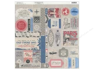 Clearance Stickers: Authentique Stickers 12 x 12 in. Abroad Details