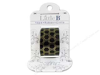 Little B Paper Tape 25mm Foil Honeycomb Gold