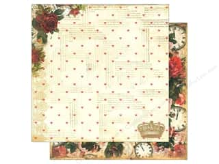 Marion Smith Paper 12x12 Mad Tea Party Roses R Red (20 piece)