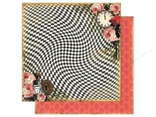 "Scrapbooking Brown: Marion Smith Paper 12""x 12"" Mad Tea Party Rabbit Hole (20 pieces)"