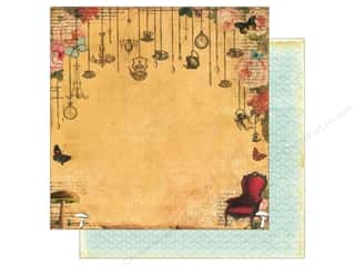 "Chains Brown: Marion Smith Paper 12""x 12"" Mad Tea Party Wonderland (20 pieces)"