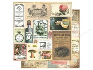"Scrapbooking Brown: Marion Smith Paper 12""x 12"" Mad Tea Party Cut & Create Ephemera (20 pieces)"