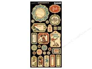 Craft Embellishments Weekly Specials: Graphic 45 Die Cut Good Ol' Sport Chipboard 1