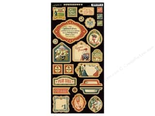 Captions Chipboard: Graphic 45 Die Cut Good Ol' Sport Chipboard 2