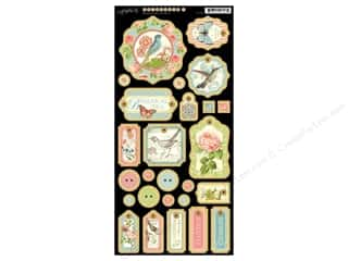 Tabs Animals: Graphic 45 Die Cut Botanical Tea Chipboard 1