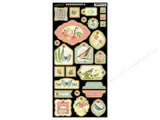Graphic 45 Die Cut Botanical Tea Chipboard 2