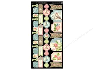 Graphic 45 Cdstk Shapes Botanical Tea Banners