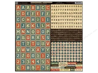 Graphic 45 ABC & 123: Graphic 45 Sticker Good Ol' Sport Alphabet