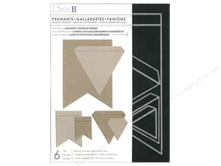 Little B Cutting Dies Template Pennants