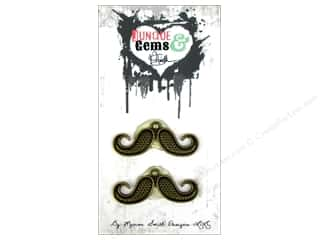 Marion Smith Embellishment Junque & Gems Mustache