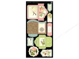 Think Pink Brown: Graphic 45 Cardstock Shapes Botanical Tea Tags & Pockets