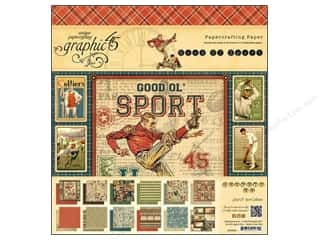 "Graphic 45 Graphic 45 Paper Pad Collections: Graphic 45 Paper Pad 8""x 8"" Good Ol' Sport"