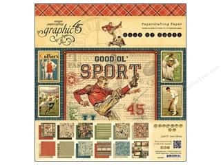 Graphic 45 Paper Pad 12x12 Good Ol' Sport
