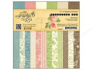 "Crate Paper 6 x 6: Graphic 45 Paper Pad 6""x 6"" Botanical Tea"