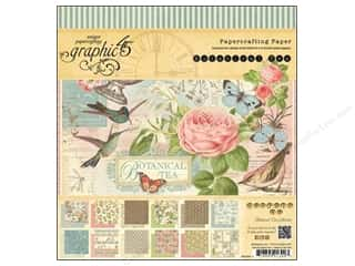 Graphic 45 Paper Pad 8x8 Botanical Tea