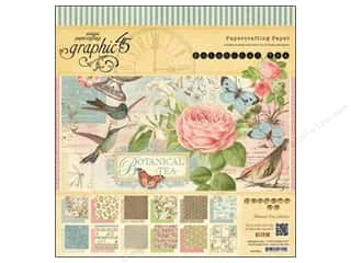 "Tea & Coffee Sale: Graphic 45 Paper Pad 12""x 12"" Botanical Tea"