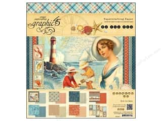 "Beach & Nautical: Graphic 45 Paper Pad 8""x 8"" By The Sea"