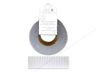 Little B Decorative Paper Tape 1 5/8 in. Corrugated White
